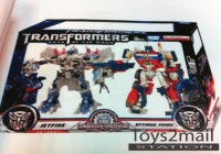 Asian Release 2007 Transformers Movie Leaders Optimus Prime and Megatron Two-Pack