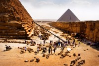 Transformers News: Michael Bay Blog Update: Shooting at the Pyramids of Giza