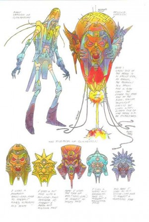 Transformers News: More Floro Dery Transformers Concept Art: Quintessons, Mini-Unicron