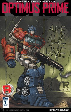 RIPT Apparel Exclusive IDW Optimus Prime #1 Variant Cover by Tim Lim