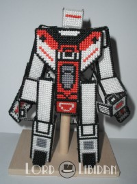 Transformers News: Transtopia Masterclass - Cross-Stitched 3D Transformers Optimus Prime and Jetfire