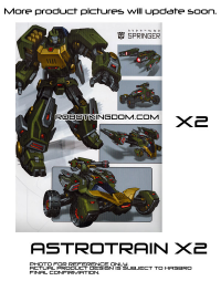 Fall of Cybertron Voyager Springer and Astrotrain Listings Revealed