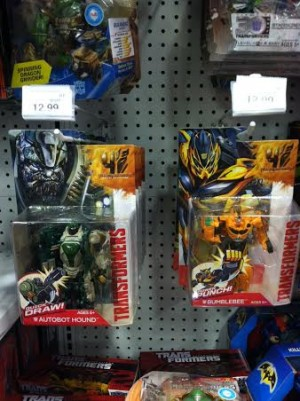 Transformers Age of Extinction Power Attackers Hound, Bumblebee and Strafe Found at U.S. Retail
