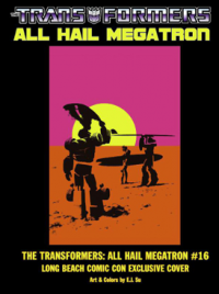 Transformers News: Long Beach Comic-Con exclusive cover for AHM #16