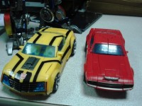 Transformers News: Transformers Prime Deluxe Bumblebee and Cliffjumper In-Hand