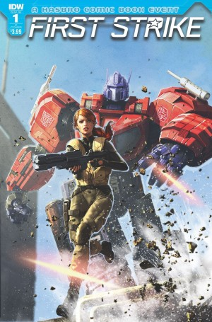 Transformers News: Variant Covers for IDW Hasbro Universe First Strike #1 and #2