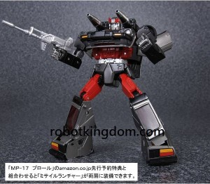 Transformers News: Pre-orders of Takara Tomy Transformers Masterpiece MP-17 Prowl & MP-18 Bluestreak with Robotkingdom Will Come with Amazon Exclsive Missile Launchers