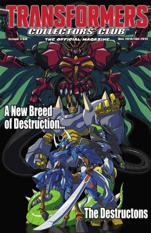 Transformers News: Transformers Collectors' Club Magazine #60 Cover Art - The Destructons
