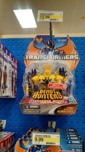 Target Exclusive Transformers Prime Beast Hunters Predacons Rising Nova Blast Bumblebee Released
