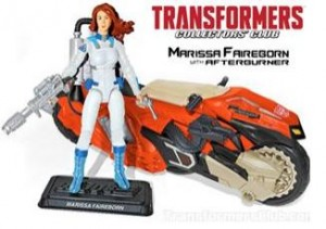 The first  mock up reveal of the TFCC exclusive MARISSA FAIREBORN and AFTERBURNER vehicle