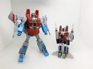 New Production Shot of MP-52 Starscream Ver 2.0 with Original G1 Starscream