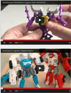 Transformers News: Pax Cybertronia Video Review Of Generations Skrapnel And Tailgate
