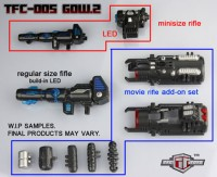 Transformers News: TFC GOW2 Weapon Details & Release Date