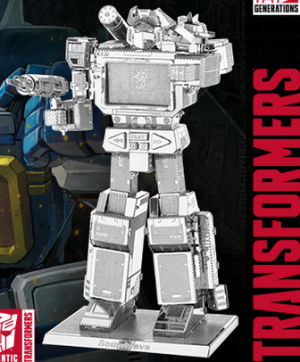 Transformers News: New Images and 360 degree product view for Transformers Metal Earth 3D Model Kits