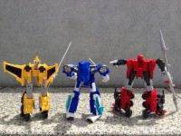 Transformers News: In-Hand Images: Takara Tomy Transformers Go! Samurai Team