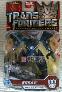 Transformers News: In Package Images of Revenge of the Fallen Scout Sonar, Brakedown and FAB Arcee