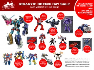 Transformers News: Ages Three and Up - Gigantic Boxing Day Sale Is Live!