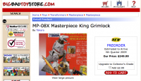 Transformers News: BBTS Has Pre Orders For MP-08X Grimlock, And Halloween MIckey Prime