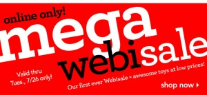 Mega Webisale at ToysRUs with Combiner Wars G2 Superion for $60 and other deals