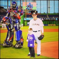 Transformers News: Transformers: The Ride 3D Optimus Prime and Bumblebee Characters Appear at Marlins Park