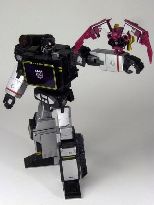 Transformers News: New Image of Takara Tomy Transformers Masterpiece MP-13B Soundblaster with Ratbat