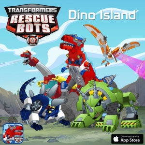 """Hasbro and PlayDate Digital's New """"DINO ISLAND"""" Interactive Storybook App featuring Rescue Bots"""