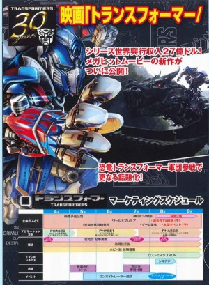 Official Takara Tomy Age of Extinction Products Catalog