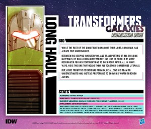 IDW Transformers Galaxies All Constructicon Tech Specs Profiles Posted