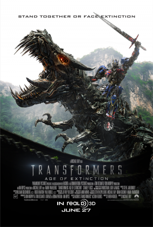 Transformers News: New Transformers: Age of Extinction Poster: Stand Together or Face Extinction