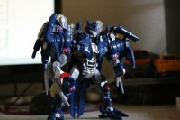 Transformers News: More Images of 'Gathering at the Nemesis' Blue Soundwave