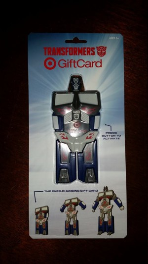 Transformers: Age of Extinction Transforming Optimus Prime Target Gift Card