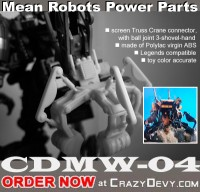 Transformers News: Update on CrazyDevy's CDHW-04 Power Parts