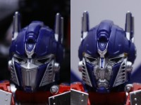 "Transformers News: Comparison pics of Takara's ROTF ""Buster"" Optimus Prime Figures"