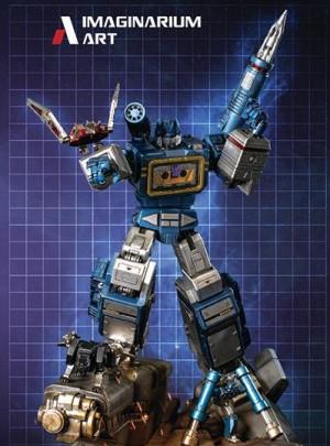 Final Images of Imaginarium Art Transformers Soundwave Statue, with Ravage, Rumble, Laserbeak
