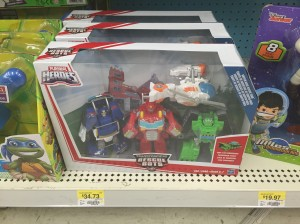 Transformers: Rescue Bots Griffin Rock Rescue Team Sighted at US Retail