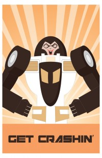 Andrew Griffith Exclusive TFCon Print - Get Crashin'