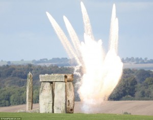 Transformers News: Michael Bay is Blowing Up Stonehenge in Transformers: The Last Knight