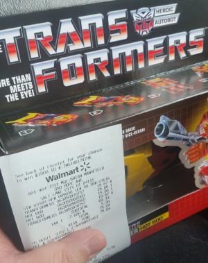 Transformers G1 Reissue Hot Rod Found Half Price at Walmart