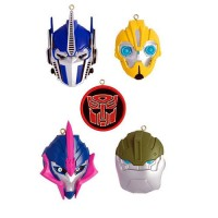 Transformers News: Transformers Prime 5-Piece Christmas Ornament Set