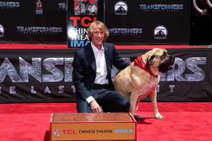 Transformers News: Images of Michael Bay Being Honored with Hand and Footprint Ceremony by TCL Chinese Theatre IMAX