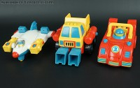 "Transformers News: New Toy Galleries: Playskool ""First Transformers""  Dump-Kun, Jet-Kun, and Racer-Kun"