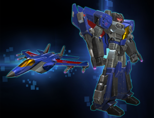 Thundercracker lands in Transformers Forged to Fight
