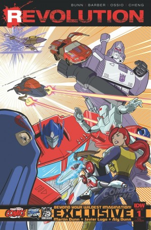 IDW Hasbro Comics Crossover: Revolution - Tampa Bay Toy Expo Variant Cover