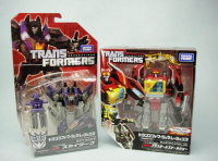 Transformers News: In-Package Image: Takara Tomy Transformers Generations TG-17 Blaster with Steeljaw & TG-18 Skywarp