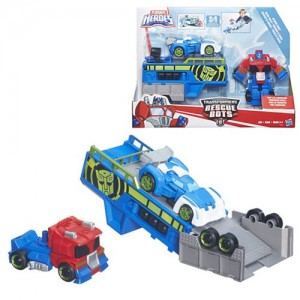 Transformers News: Stock Image - Transformers: Rescue Bots Optimus Prime Racing Trailer