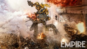 New Bumblebee Still from Transformers: The Last Knight, Plus Writers Interviewed