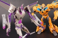 "Transformers News: New Toy Galleries: Transformers Prime ""Robots in Disguise"" Bumblebee vs. Starscream Entertainment Pack with Leland ""Silas"" Bishop & MECH Soldier"