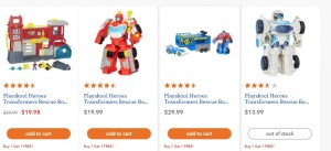 BOGO Free Deal at Toysrus for all Transformers: Rescue Bots Toys