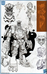 Transformers News: Transformers ROTF Lockdown design art