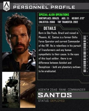Transformers News: Character Bio for Transformers: The Last Knight Santos, TRF Commander